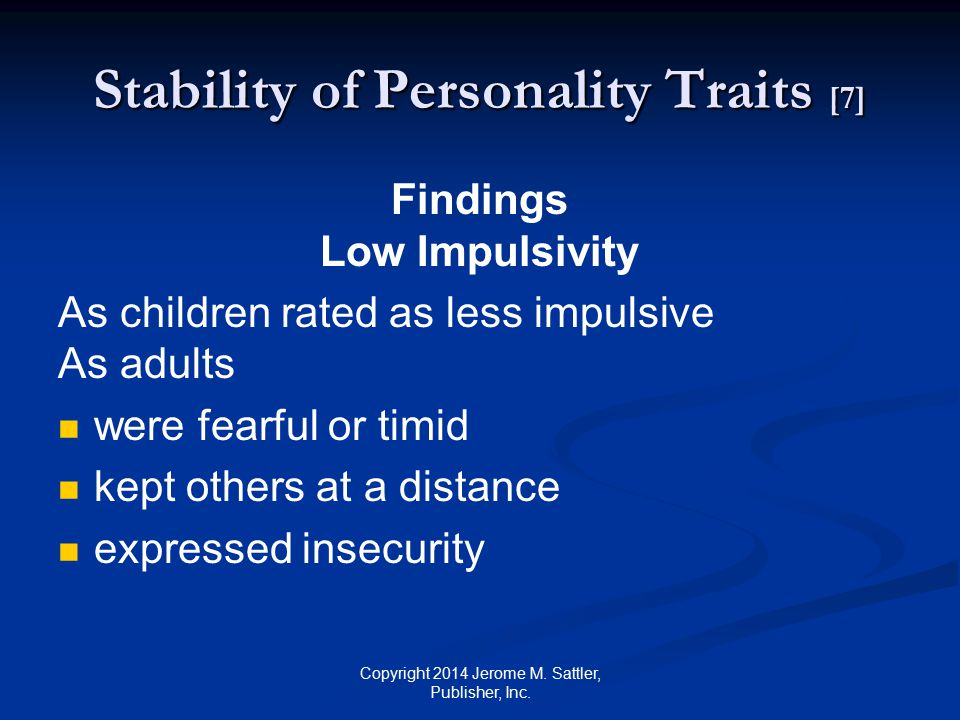 Stability of Personality Traits [7]